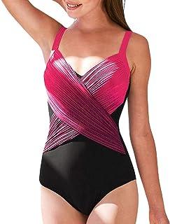 8334e70c91 Maillot de Bain Femme 1 pièces Monokini Amincissant Sexy Bikini Rembourré  Push up été Plage Piscine