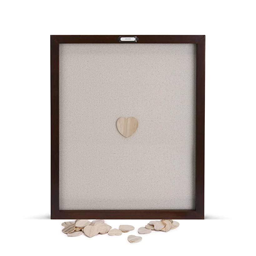 DEMDACO Loving Hearts Guest Book Large 22 x 18 Wood Framed Wall Art Plaque