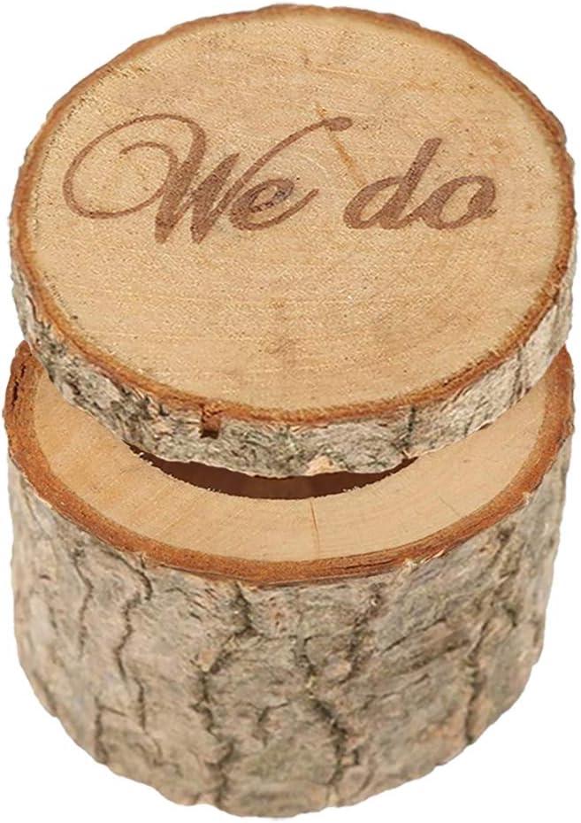 Wooden Printed We do Shabby Chic Wedding Ring Holder Bearer Box Rustic Ring Box