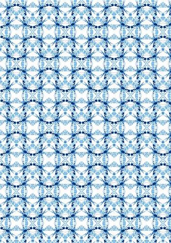 Clairefontaine 456690C Decorativ 'paquete de 25hojas A4, 21x 29,7cm, diseño Shibori 1surtido de azul