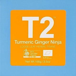 T2 Tea Organic Turmeric Ginger Ninja, Turmeric and Ginger Tea in Gift Cube 100 g, 1 x 100 g