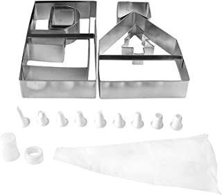 Fox Run 10 Pc Gingerbread House Cookie Biscuit Cutter Mold Bake Set Holiday