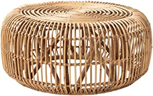 Home Side Table Furniture Rattan Coffee Table Living Room Round Tea Table Sofa Corner Side End Table Bedroom Small Bedside Table Used for Balcony Office Hotel Furniture Nightstands-Plant Vine