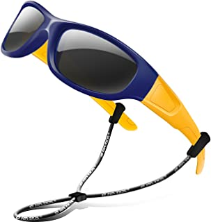 عینک آفتابی RIVBOS RIVBOS عینک آفتابی قطبی با عینک تسمه سایه برای پسران دختران کودک و کودک 3-10 RBK037