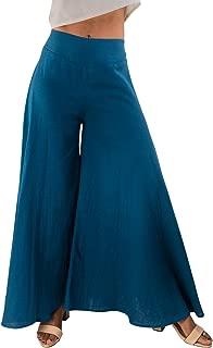 Women's Wide Leg Organic Cotton Palazzo Pants, Fair Trade