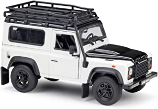 RUNWEI Alloy Car Model Decoration,1:24 Land Rover Land Rover Defender Simulation Alloy Model Ornaments ( Color : White )
