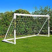 FORZA Fußballtor mit einem Klicksystem – das Fußball-Tor kann das ganze Jahr über bei jedem Wetter draußen Lassen Stehen | Fussballtore für Garten | Fussballtor Kinder (2,4m x 1,8m)