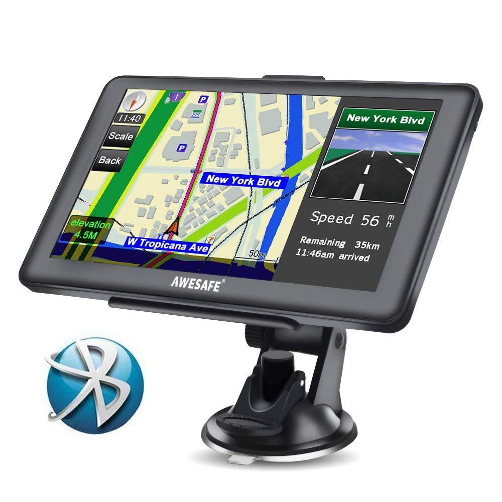 AWESAFE GPS para Coche de 7 Pulgadas Pantalla con Bluetooth, Negro: Amazon.es: Juguetes y juegos