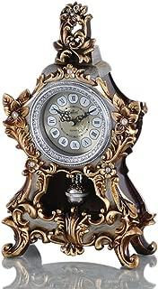 LANNA SHOP- European Retro Mantel / Mantle Rhythm Quartz Clock living room desk shelf clocks Decoration ( Color : Bronze )