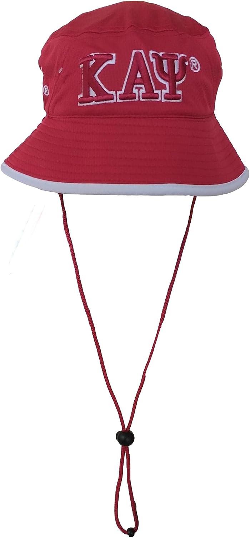 Kappa Alpha Psi Big Letter Manufacturer OFFicial shop White Floppy Hat Fort Worth Mall Red Bucket