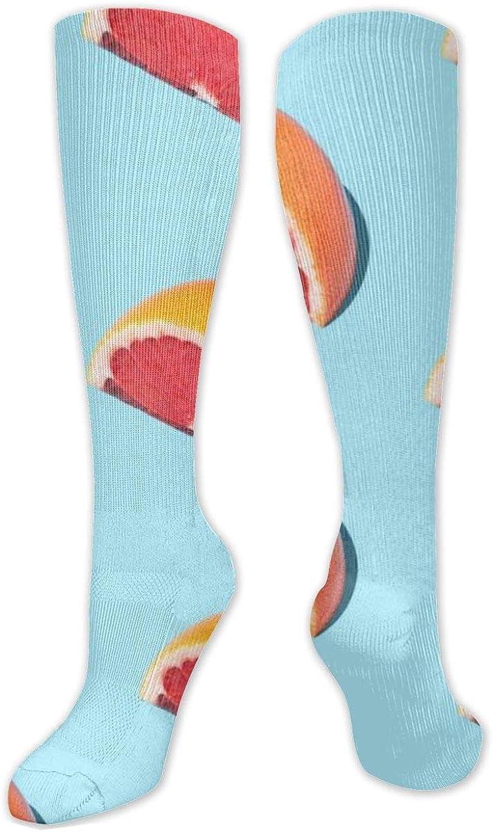 Orange Seamless Knee High Socks Leg Warmer Dresses Long Boot Stockings For Womens Cosplay Daily Wear