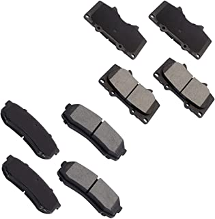 OCPTY Ceramic Brakes Pads, Quick Stop Front Rear Brake Pad fit for 10- for Lexus GX460, 03-09 for Lexus GX470, 03- for Toy...
