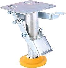 Veel voorkomende sloten Mangaan staal verstelbare trolley kar vloer slot remcaster wiel vloer slot voor 4~5in wielen met T...