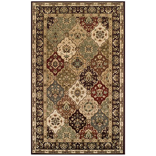 Superior Elegant Palmyra Collection Area Rug, 10mm Pile Height with Jute Backing, Gorgeous Traditional Persian Rug Design, Anti-Static, Water-Repellent Rugs - 4' x 6' Rug