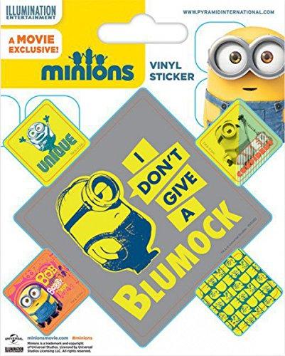 1art1 Les Minions Poster-Sticker Autocollant - Bob, Blumock (12 x 10 cm)