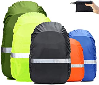 Frelaxy Hi-Visibility Backpack Rain Cover with Reflective Strip 100% Waterproof..