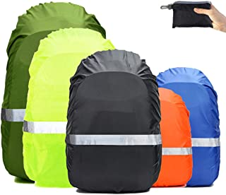 Frelaxy Hi-Visibility Backpack Rain Cover with Reflective Strip 100% Waterproof Ultralight Backpack Cover, Storage Pouch, Anti-Slip Cross Buckle Strap, for Hiking, Camping, Biking, Outdoor, Traveling