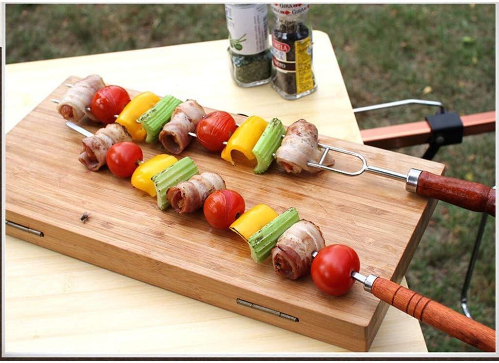 BBQ Connexion 7/5 Piece Set Marshmallow Barbecue bâton en acier inoxydable de hot-dog et une fourchette sac à main (Color : 5) 5