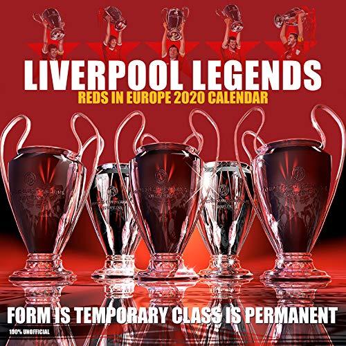 Liverpool Legends 2020 Wandkalender, 30,5 x 30,5 cm, Fußball-Motiv, inkl. Poster