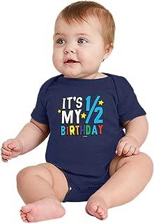 half birthday onesie boy