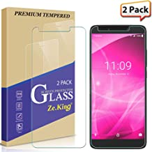 [2-Pack] T-Mobile Revvl 2 Plus Screen Protector Tempered Glass, Zeking [Anti Scratch][Anti-Fingerprint] Bubble Free, Lifetime Replacement Warranty