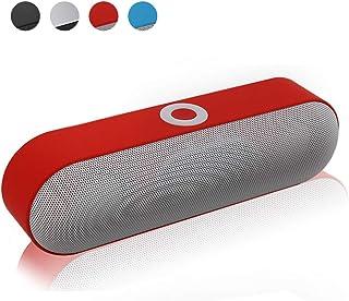 Wireless Bluetooth Speaker, Mini Bluetooth Speaker Portable Wireless Speaker Sound System 3D Stereo Music Surround,Red
