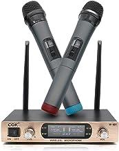 Micrófono Inalámbrico Sistema de Micrófono de Doble Canal Profesional para Karaoke, DJ, Fiesta, Boda Exterior