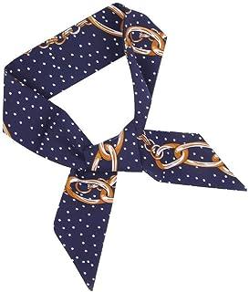 وشاح المرأة الأوشحة النساء ربطة عنق طباعة لينة الحرير وشاح عقال حقيبة اكسسوارات وشاح للنساء ، اللون: وردي (اللون: كحلي)