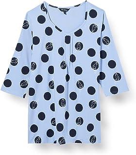 Ulla Popken ShirtA-Line mit allover Druck dames bloes