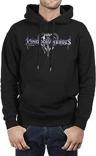 Hahi Kolkoq Kingdom-Hearts-3- Hoodie Mens Sweatshirt Pullover Adult Preshrunk Fleece Knit Long Sleeve T-Shirt for Men's Black