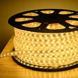 "Tecticon 5 Meter Waterproof Led Rope Light Unbreakable for Ceilings ""Yellow (Warm White) Color"" with Adapter. (5 Meter)"
