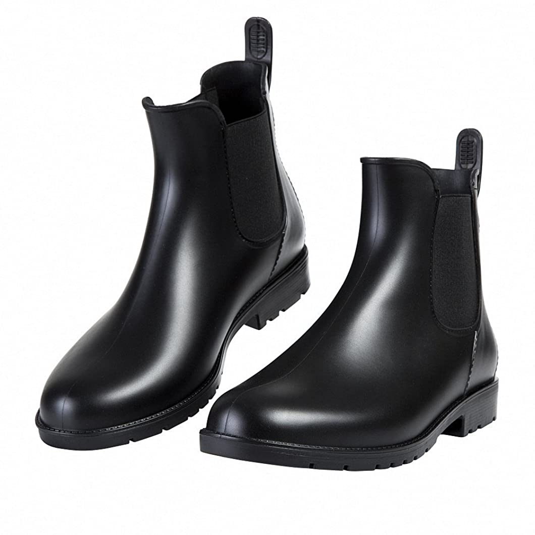 サーバントコンテンツ手順[銀の心] レディース&メンズ レインブーツ ショートブーツ カジュアル 防水 雨靴 滑り止め サイドゴア 歩きやすい レインシューズ 梅雨対策(22.0cm~26.5cm)