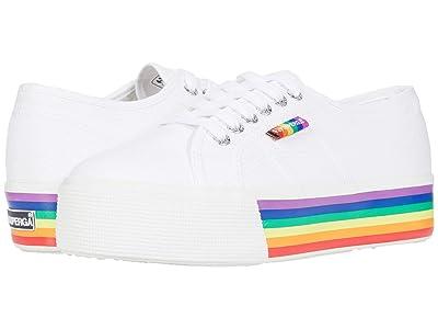 Superga 2790 Pride Sneaker (White/Multi) Women