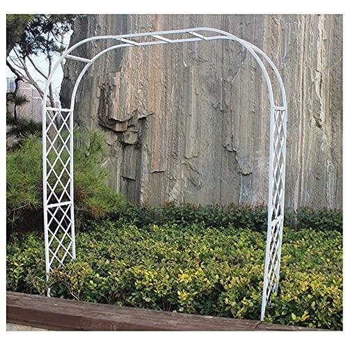 CCLLA Arco de jardín Resistente al Aire Libre, diseño de Rejilla Independiente, Arco de Apoyo Fuerte y Duradero para Plantas trepadoras/Blanco / W3 * H2.3m