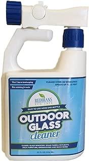 Wash Safe Industries WS-OG-HE Outdoor Window Glass Cleaner, Hose End Bottle, 32 oz. Spray Jug, Blue
