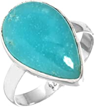 Solid 925 Sterling Silver Ring Natural Smithsonite Gemstone Handmade Jewelry Size 10.5