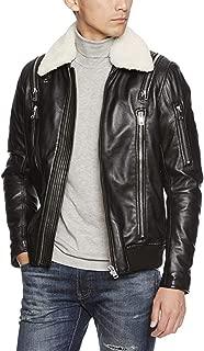 Best diesel white leather jacket Reviews