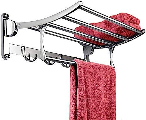 Plantex Pitru Stainless Steel Folding Towel Rack for Bathroom/Towel Stand(18 inch-Chrome Finish)