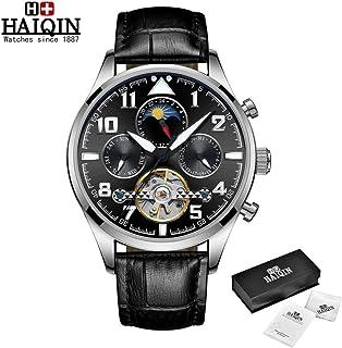 AIZHIJIA Mecánico Automático Relojes para Hombre Reloj Reloj De Negocios Reloj De Pulsera para Hombre Tourbillon