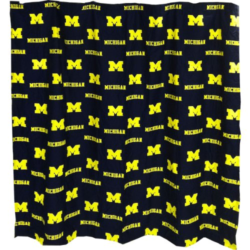 College Covers Michigan Wolverines Shower Curtain Cover, 70' x 72'
