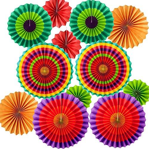 12pcs mexicanos fiesta decoración Fiesta fiesta accesorios multicolor de papel colgador para Cinco de Mayo fiesta de cumpleaños decoración de boda