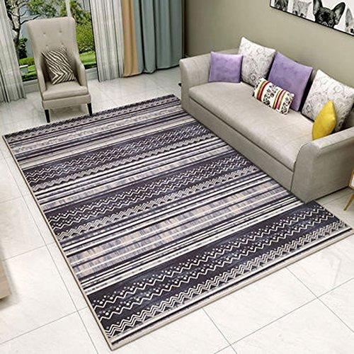 WLH- Nordic Style tapijt woonkamer koffietafel Modern eenvoudige geometrische Bedroom Slaapbank Huis Carpet (Color : C, Size : 120x160cm)