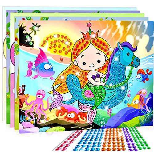 BLOUR DIY Pegatinas de Diamantes Hechos a Mano Pasta de Cristal Pintura Mosaico Rompecabezas Juguetes de Colores al Azar niños Pegatinas de Juguete Regalo