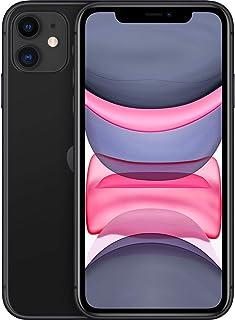 هاتف ايفون 11 مزوّد بخاصية فيس تايم ثنائي شريحة الاتصال من ابل - 128 جيجا، ذاكرة رام 4 جيجابايت، الجيل الرابع ال تي اي، لو...