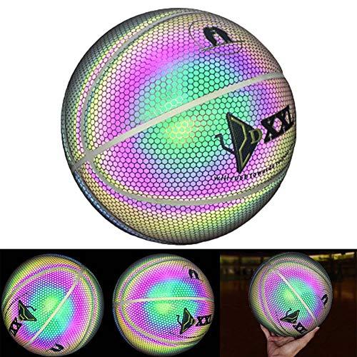 Buy Bargain Cacat Luminous Basketball Night Game Street PU Glowing Rainbow Light Children Training T...