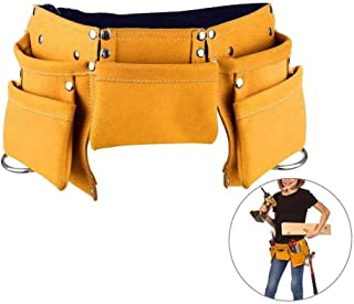 TEEPAO Kids Tool Belt, Kids Leather Working Tool Belt Adjustable Children's Carpentry Tool Pouch Apron Bag for Youth Costumes Dress Up Construction Role Play