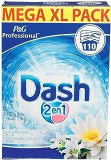 Dash - Proszek do prania 2 w 1 Kwiat Lotosu i Lilii - Opakowanie XL - 110 prań - 1 sztuk