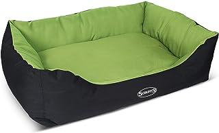 【イギリス発】ラグジュアリーなペットベッド エクスペディションボックスベッド高級ペットベッド 犬ベッド… (XL, ライム)