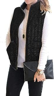 Vocni Women's Tassels Faux Suede Fringe Vest 70s Hippie Costume Open-Front Sleeveless Cardigan Vest
