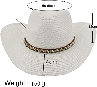 Sun Hat for men and women Western Cowboy Hat Women Men Straw Sun Hat Outdoor Seaside Sun Visor Color Braided Rope Beach Hat